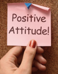 Positive Attitude Note Shows Optimism Or Belief