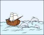 280-ancient-ship-with-dolphins--vector-illustration-1113tm-v1