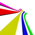 Group Of Multicolored Arrows Pointing Up With Blank Copyspace Shows Progress Or Improvements