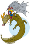 Super Hero Riding Dragon