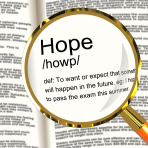 Hope Definition Magnifier Showing Wishes Wants And Hopes