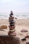 Balanced Pepples at the Baltic Sea of Germany