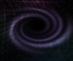Black Hole in Space Background