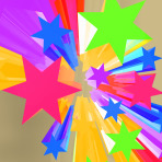 Abstract Bursting Stars Background As Colorful Dramatic Backdrop