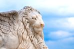 Winged lion head