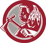 Native American Tomahawk Warrior Circle