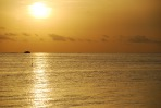 photo of a gorgeous sunset from a Maldivian island