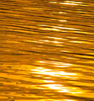 Sunset watter as liquid gold