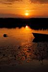 river bank sunset