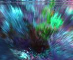 Blue Garden Abstract Background