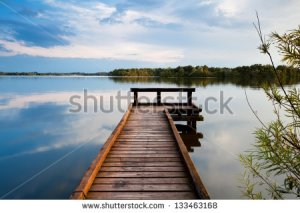 stock-photo-wooden-pier-on-big-lake-in-groningen-133463168