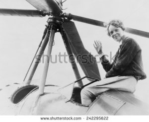 stock-photo-amelia-earhart-waving-seated-outside-cockpit-on-top-of-an-autogiro-in-los-angeles-242295622