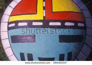 stock-photo-hand-painted-hopi-instrument-in-tight-close-up-in-taos-nm-269464247