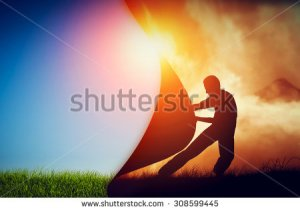 stock-photo-man-pulling-curtain-of-darkness-to-reveal-a-new-better-world-conceptual-change-two-worlds-hell-308599445