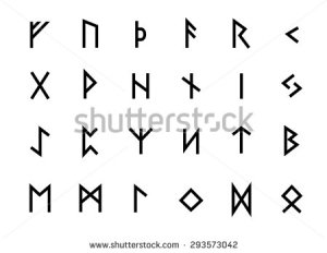 stock-vector-alphabet-with-ancient-old-norse-runes-futhark-set-of-scandinavian-and-germanic-letters-on-293573042