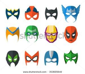 stock-vector-set-of-vector-super-hero-masks-in-flat-style-353605646