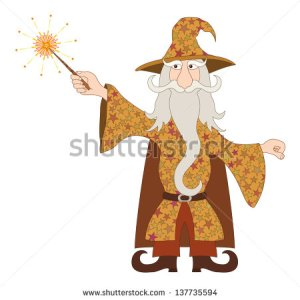 stock-vector-wizard-cartoon-character-in-starred-costume-standing-and-launching-bright-stars-and-rays-from-his-137735594