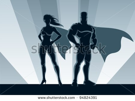 stock-vector-superhero-couple-male-and-female-superheroes-posing-in-front-of-a-light-no-transparency-used-94824391