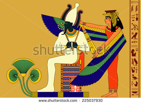 stock-vector-vector-illustration-of-the-gods-from-ancient-egypt-osiris-and-isis-225037930