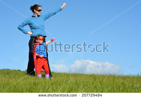 stock-photo-superhero-mother-show-her-daughter-how-to-be-a-superhero-against-blue-sky-background-with-copy-207729484