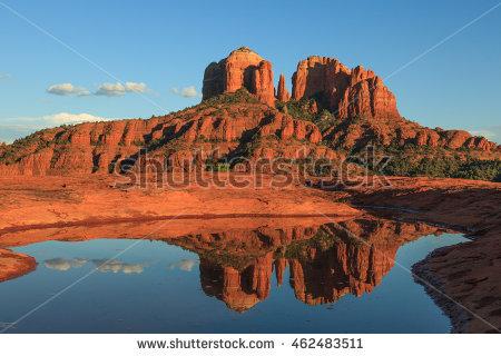 stock-photo-cathedral-rock-reflection-sedona-arizona-462483511