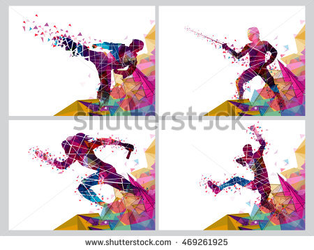 stock-vector-set-of-four-sports-poster-banner-or-flyer-creative-illustration-of-runner-fencing-player-and-469261925