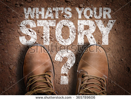 stock-photo-top-view-of-boot-on-the-trail-with-the-text-whats-your-story-365789606